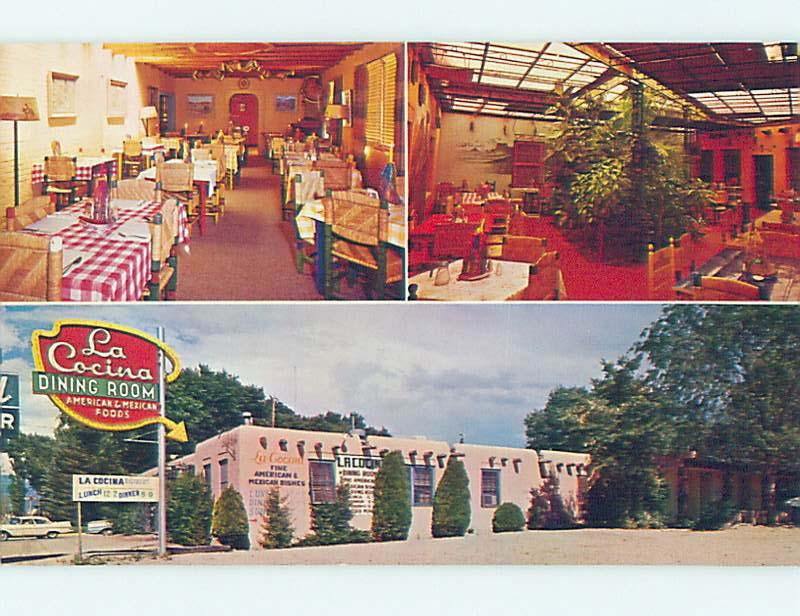 Unused Pre-1980 MEXICAN FOOD RESTAURANT Santa Fe New Mexico NM hs4537