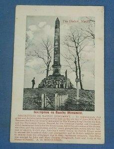 Vintage Postcard  The Obelisk Naseby Northamptonshire   (J1B)