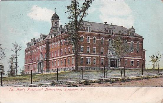 Pennsylvania Scranton St Ann's Passionist Monastery 1907
