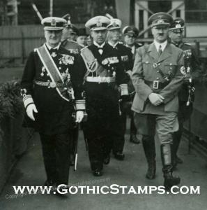 Hitler von Horthy Dedicating Navy Ship Prinz Eugen Photo Lot 40943
