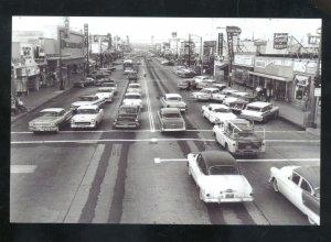 REAL PHOTO INGLEWOOD CALIFORNIA DOWNTOWN STREET SCENE CARS POSTCRD COPY