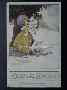 CHRISTMAS MORNING Artist Agnes Richardson c1917 PC by Raphael Tuck 5002