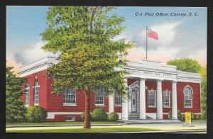 Street View Post Office Cheraw South Carolina Unused c1930s
