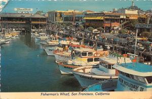 USA Fisherman's Wharf San Francisco California Boats Bateaux 1981