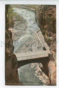 425828 ALGERIA CONSTANTINE Devil's Bridge Gorges Vintage postcard