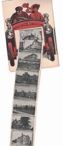 New York Elmira , Tourist Car , Panoramic card with inside Foldout , 24 panels