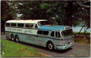 1961 GREYHOUND BUS LINES Advertising Postcard Through Vacation Wonderland