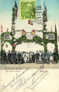 turkey, SMYRNE SMYRNA, Jour férié à Tourbali (1909) Stamp