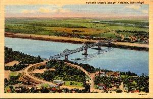 Mississippi Natchez The Natchez-Vidalia Bridge Curteich