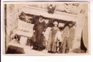 Photograph  Two Men with One Woman, Printed WR Rozee, Halifax, Nova Scotia