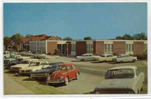 Johnson Commons Volkswagen Beetle Car University Mississippi Oxford MS postcard