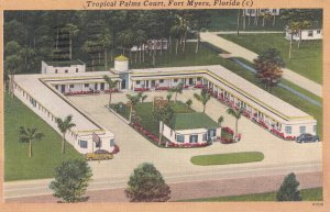 FORT MYERS, Florida, PU-1952; Tropical Palms Court