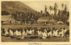 fiji islands, Natives making Yangona or Vangona (1910s)