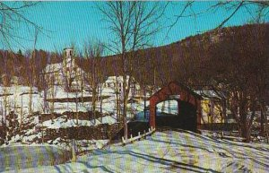 Covered Bridge Old Covered Bridge Over The Green River At Guilford Vermont