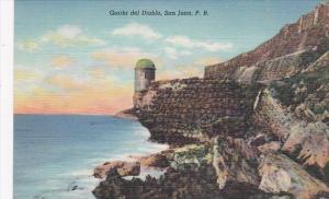 Puerto Rico San Juan Garita del Diablo Curteich