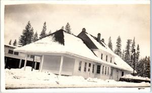 RPPC WESTWOOD, CA California  WESTWOOD RAILROAD DEPOT  1914  Postcard