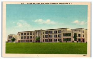 Mid-1900s Alumni Building, Bob Jones University, Greenville, SC Postcard