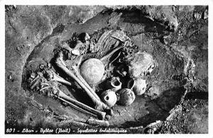 Lebanon Liban - Byblos (Jbeil) Neolithic skeletons