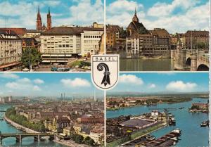 Switzerland, Suisse, BASEL, multi view, 1967 used Postcard