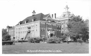 Adrian Michigan~St Joseph's Academy~Beautiful School Building~50s RPPC-Postcard