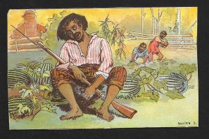 VICTORIAN TRADE CARD 'The Tornado' Entertainment Black Man