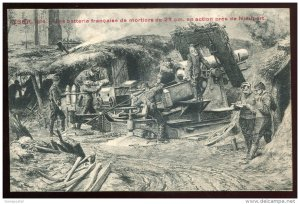 dc786 - BELGIUM Battle of Yser WWI 1914 Military. Soldiers. Cannon