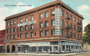 Hotel St. Elmo, Vancouver, Washington, Early Postcard, Used in 1912