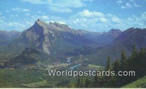 Townsite of Banff, Mt Rundle Canadian Rockies Canada Unused