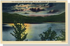 Lake Tahoma, NC Postcard, Mt. Mitchell/Moonlight, Near Mint!