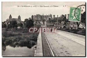 Postcard Old St Aignan General view and castle