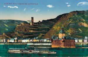 Germany Caub mit Pfalz und Ruine Gutenfels 03.04