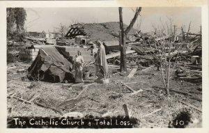 RP: BUNKERHILL , Illinois , 1948 ; Tornado , Catholic Church