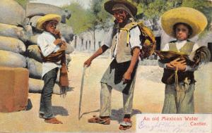 OLD MEXICAN WATER CARRIER-YOUNG BOY & CHICKEN-NEWMAN PUBL MEXICO POSTCARD 1909