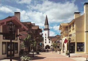 Vermont Stratton Mountain Resort Village Square Street Scene
