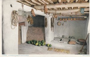 New Mexico , 1900-10s ; Interior of House of Isleta Pueblo ; Fred Harvey 10992