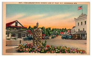 Inlet, NY Adirondacks Postcard *5E5