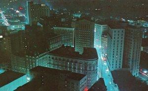 Dramatic Night View of Atlanta, Georgia, GA, 1964 Chrome Vintage Postcard h3514