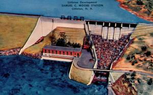 NH - Littleton. Samuel C Moore Dam (Artist's Rendering)