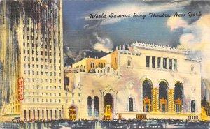 Roxy Theatre New York City, USA Theater 1949 Ink Stamp
