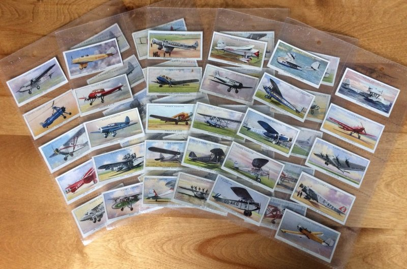 GB 1935 Plane | Aeroplane | Player Cigarettes Cards. Complete Series of 50