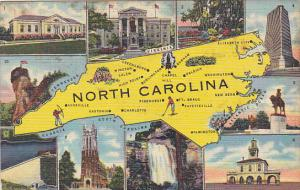 Map Of North Carolina Curteich