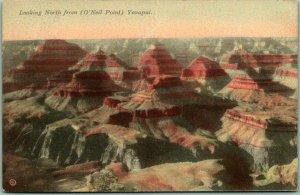 1916 GRAND CANYON Arizona Postcard North from (O'Neil Point) Unused / VERKAMP