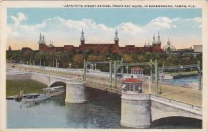 Florida Tampa Lafayette Street Bridge Tampa Bay Hotel In Background Curteich