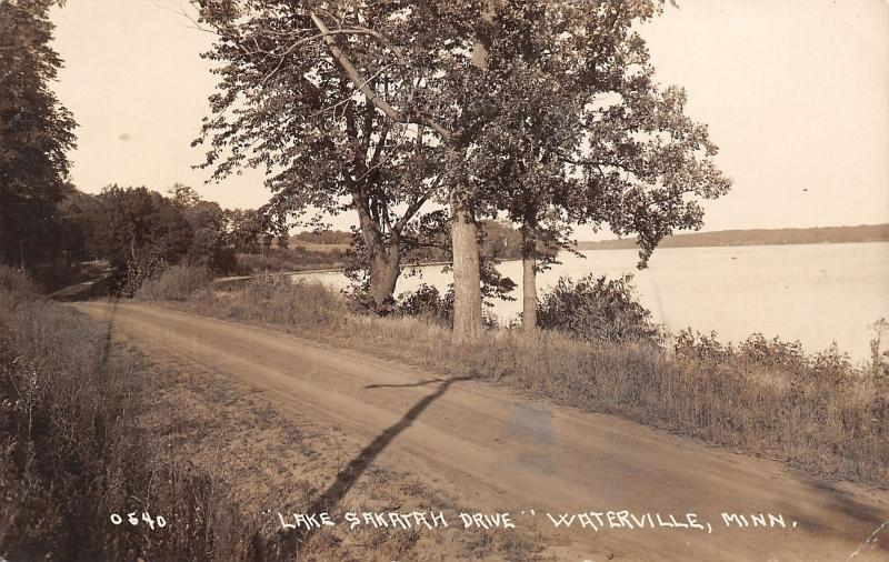Waterville MN We Hiked 3½ Miles Up This Drive to End of Lake Sakatah~RPPC 1908