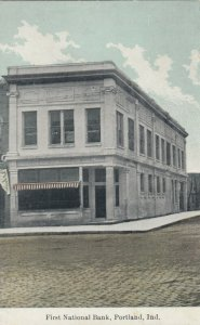 Portland , Indiana, 1900-10s ; First National Bank