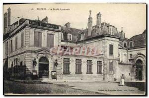 Old Postcard Troyes Bank Credit Lyonnais
