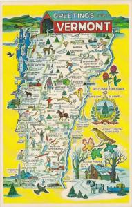 Freetings From Vermont With Map