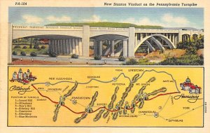Maps New Stantonn Viaduct Pennsylvania, USA Unused