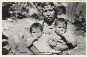 RP: CHEROKEE , North Carolina , 1937 ; Mother & Twin Kids