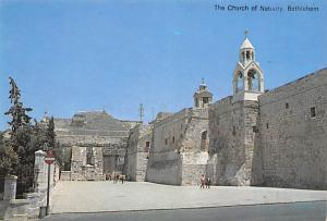 Israel Old Vintage Antique Post Card Church of Nativity Bethlehem Unused